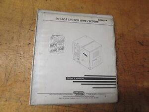 Lincoln Electric Welder Ln 742 Ln742h Wire Feeder Service Manual