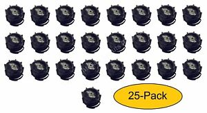 25 pk Genuine Midwest Can Co Gas Fuel Gallon Diesel Black Screw Cap Collars Oem