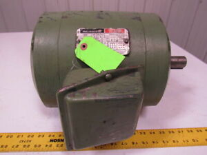 Reliance Electric P21g131c 3hp Electric Motor 230 460v 3ph 213t Frame 1170rpm