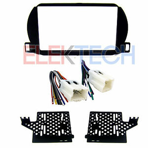 Radio Replacement Dash Mount Install Kit Double Din Harness For Nissan Altima