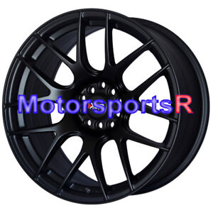 Xxr 530 18 X8 75 20 Flat Black Concave Wheels Rims 14 Mitsubishi Evolution X Mr