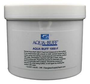 Aqua Buff 1000 f Cutting Polishing Compound Quart 32oz