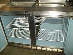 Delfield Sandwich Prep Table model 4448 12 115v 4 Shelves 900 Items On E Bay