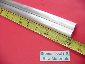 2 Pieces 5 8 Aluminum 6061 Round Rod 24 Long T6511 625 Solid Lathe Bar Stock