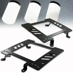 Steel Planted Aftermarket Seat Mounting Bracket Adapter For 79 98 Ford Mustang