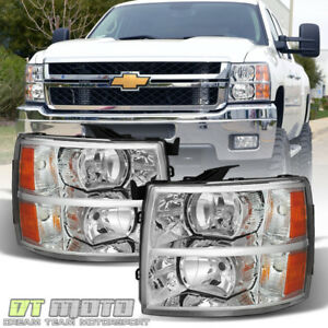 2007 2013 Chevy Silverado 1500 2500 3500 Replacement Headlights Headlamps Pair