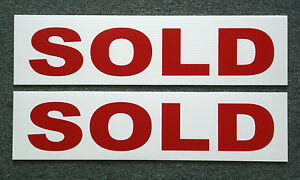 2 Sold 6 X 24 Real Estate Sign Riders 2 Sided Outdoor New Free Ship