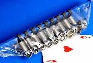 Matco 1 4 Drive 9 Piece Metric Universal Shallow 12 point Socket Wrench Set New