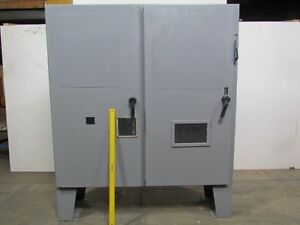 72 hx73 wx18 d Electrical Enclosure Box 2 Door Floor Stand 100a Disconnect
