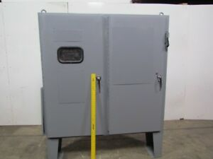 60 tx61 wx12 d Electrical Enclosure Box 2 Door W floor Stand 60a Disconnect