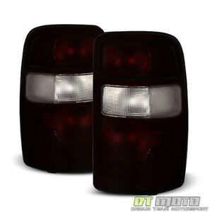 2000 2006 Chevy Suburban Tahoe Yukon Red Smoke Tail Lights Lamps Set Replacement