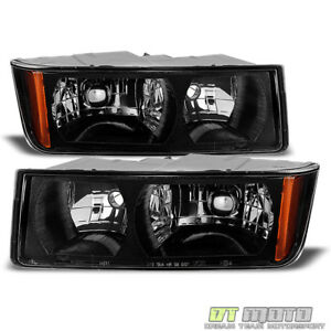 Blk 2002 2006 Chevy Avalanche 1500 2500 With Body Cladding Headlights Left right