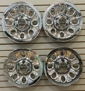 2005 2013 Sierra Silverado 1500 17 8 hole Steel Wheel Chrome Covers Skins