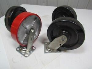 8 x2 Swivel Caster Wheels Mixed Brands Lot Of 4