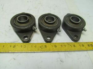 Fafnir Vcjt1 2 Bolt Flanged Bearing Housing 1 7 16 id Lot Of 3
