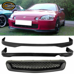 Fit 96 98 Honda Civic 2 4dr T R Style Pp Front Rear Bumper Lip Abs Hood Grille