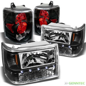 For 93 98 Jeep Grand Cherokee Led Headlights Tail Lights Lamp New Replace