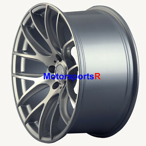 Miro 111 Wheels 19 Silver Staggered Rims Concave Mesh 5x114 3 Fit Nissan 370z