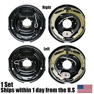 12 X 2 Left Amp Right Side Electric Trailer Brake Assembly 6000 7000 Axle Brakes