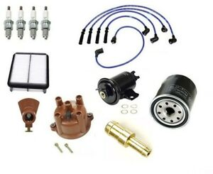 Ignition Tune Up cap Rotor Filters Wire Kit For Toyota Pickup 89 92 L4 2 4