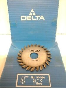4 Side Milling Cutter Slitting Saw 24t Delta No 35 584 Straight Teeth ll3402