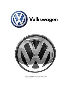 For Vw New Beetle 02 05 Hood Emblem Badge Chrome grey Front Engine Lid Insignia