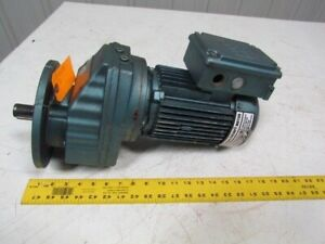Sew eurodrive Dft80n4 Rxf67dt80n4 1hp Gear Motor 230 460v 3 77 1 Ratio 140 In lb