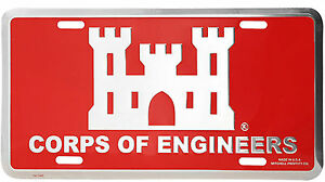 Us Army Corps Of Engineers High Quality Metal License Plate Made In The Usa