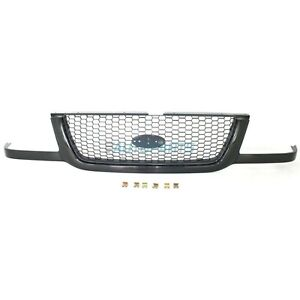 New Grille Black With Silver Mesh Fo1200395 Fits 2001 2003 Ford Ranger