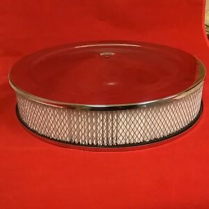Chrome Steel 14 X 3 Air Cleaner Chevy Camaro Chevelle Nova Ford Mopar Plymouth