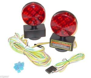 New 12v Led Magnetic Towing Lights Kit Trailer Rv Boat Dolly Brake Lights