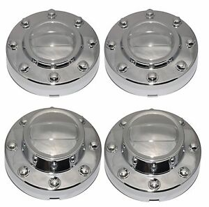 Center Hub Caps Set For 2011 2018 Dodge Ram 3500 Dually 1 ton Truck Alcoa Wheels