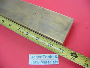 1 X 2 C360 Brass Flat Bar 11 Long Solid 1 00 Plate Mill Stock H02 New