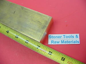 1 X 2 C360 Brass Flat Bar 7 Long Solid 1 00 Plate Mill Stock H02 New