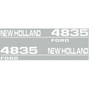 New 4835 New Holland Tractor Hood Decal Kit High Quality Vinyl Hood Decals