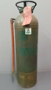 Alfco Fire Equipment Vintage Water Type Gas Cartridge Extinguisher La France
