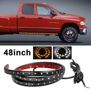 White Amber 48 Car Motors Truck Led Flexible Strip Light Waterproof 12v