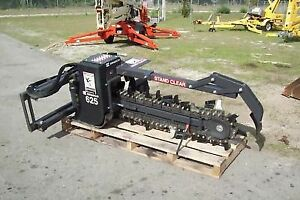 Bradco 625 Skid Steer Trencher 48 depth 8 Digging Width Fits All Skid Steers