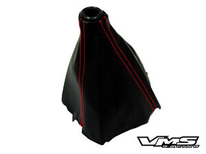 96 00 Honda Civic Ek9 Type r Style Black With Red Stitch Stiches Jdm Shift Boot