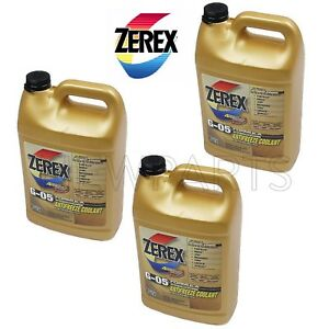 New 3 Gallons Engine Coolant Antifreeze G 05 Yellow Concentrate Zerex Zxg051