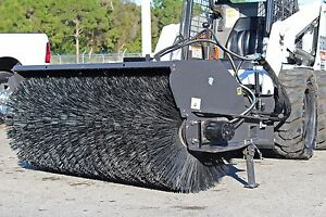 Skid Steer 7 Ft Sweeper By Sweepster all Poly For High Flow Loaders 20 36 Gpm