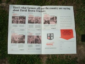 Old David Brown Tractor Taking By Storm Poster Sales Brochure Cf697