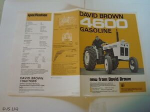 Old David Brown 4600 Tractor Sales Brochure Cf695