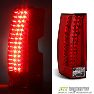 For 2007 2014 Cadillac Escalade Esv Led Tail Lights Brake Lamps Left Driver Side
