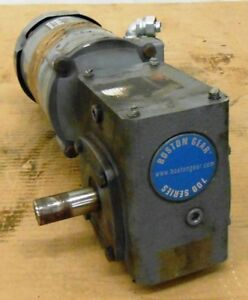 Boston Gear Motor Futf b 1 2 Hp With Worm Gear Reducer Unknown Size Right