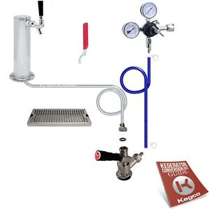 Deluxe Tower Draft Beer Kegerator Conversion Tap Kit No Co2 Tank