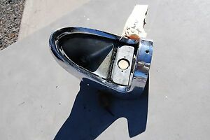 1955 Chevrolet Car Chrome Tail Light Assembly With Housing Nice Original