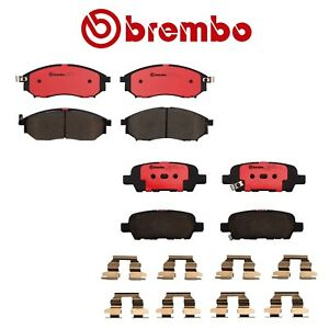 Front Rear Disc Brake Pads Brembo For Infiniti Fx35 G25 G35 M35 M45