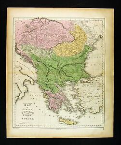 1859 Gall Inglis Map Greece Turkey In Europe Hungary Transylvania Balkans