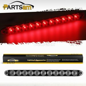 1x15 Clear Red 11 Led Trailer Truck Stop Turn Tail Brake Clearance Id Light Bar